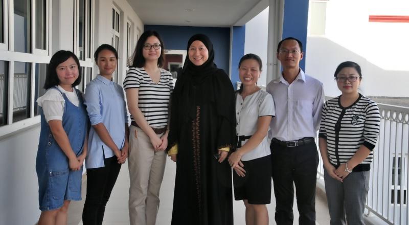Reem with Teachers